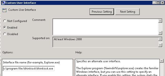 Using ThinKiosk as the Windows shell | AndrewMorgan ie