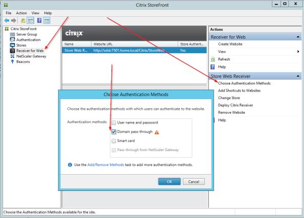 add auth method to storeweb